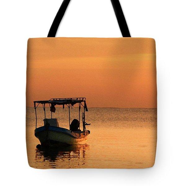 Fishing Boat In Waiting Tote Bag