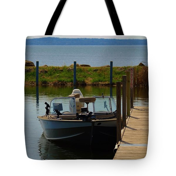 Tote Bag featuring the photograph Fishing Boat by Ramona Whiteaker