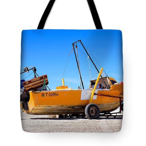 Tote Bag featuring the photograph Fishing Boat by Silvia Bruno