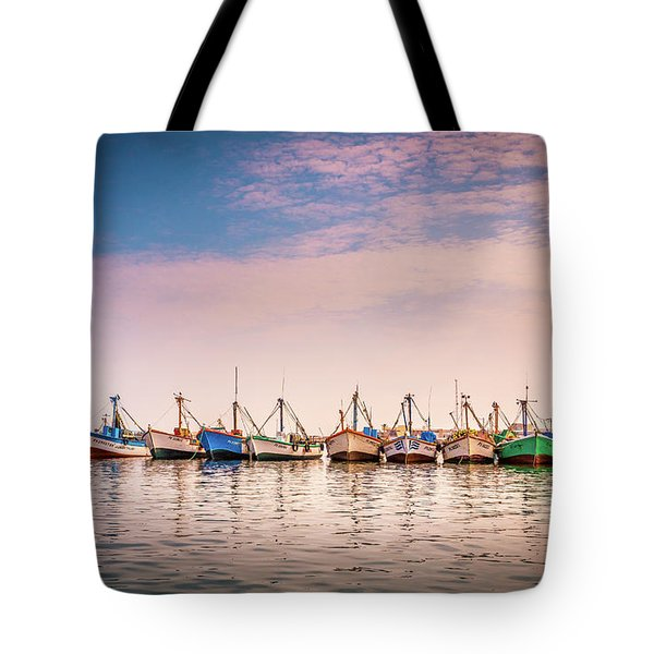 Tote Bag featuring the photograph Fishing Boats by Gary Gillette