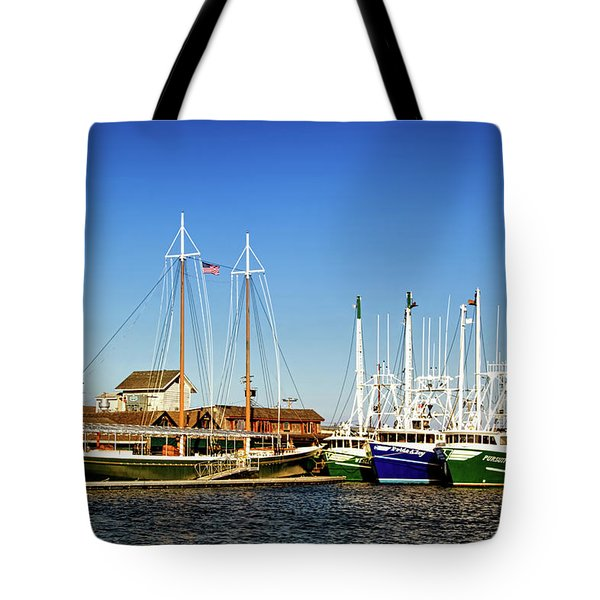 Fishing Boats In Cape May Harbor Tote Bag