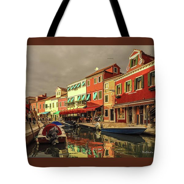 Fishing Boats In Colorful Burano Tote Bag