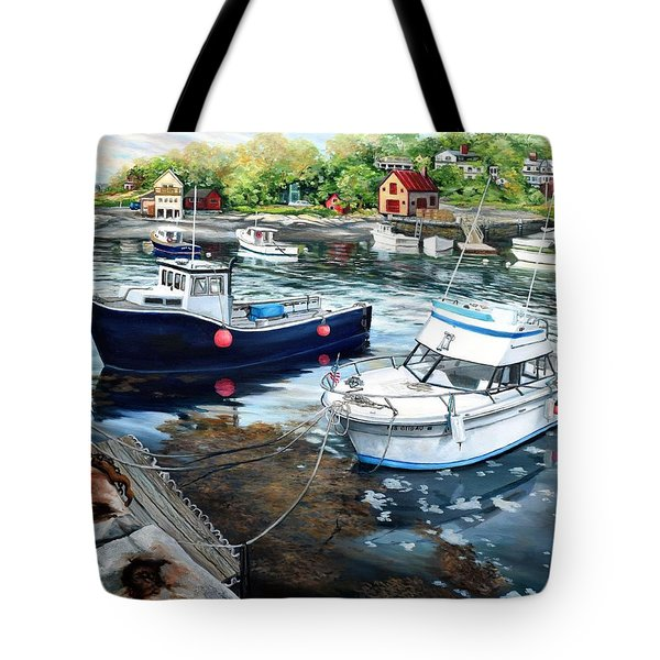 Fishing Boats In Lanes Cove Gloucester Ma Tote Bag