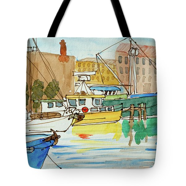Fishing Boats In Hobart's Victoria Dock Tote Bag