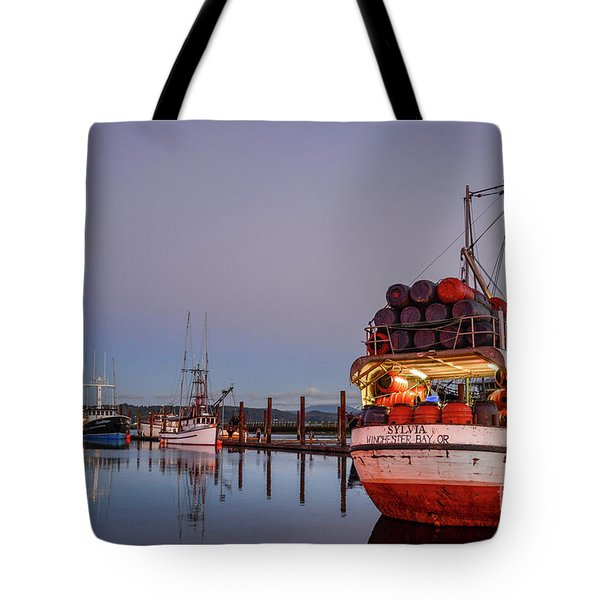 Fishing Boats Waking Up For The Day Tote Bag