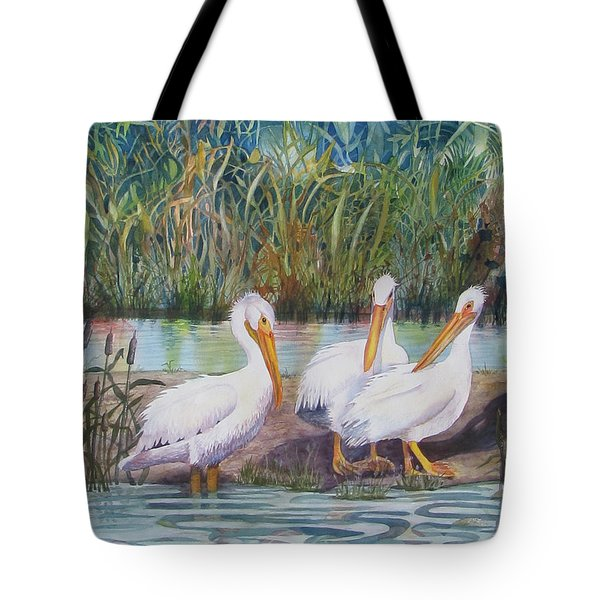 Fishing Buddies Tote Bag by Martha Ayotte