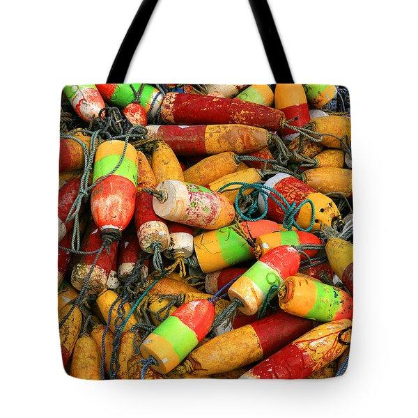 Fishing Buoys Tote Bag