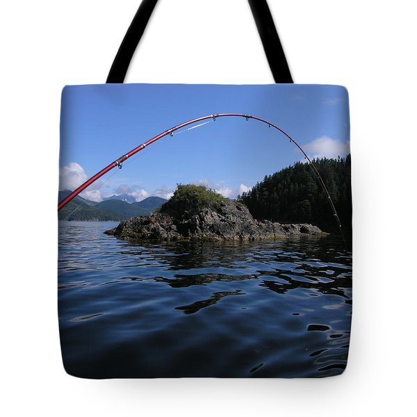 Fishing Camel Rock Tote Bag