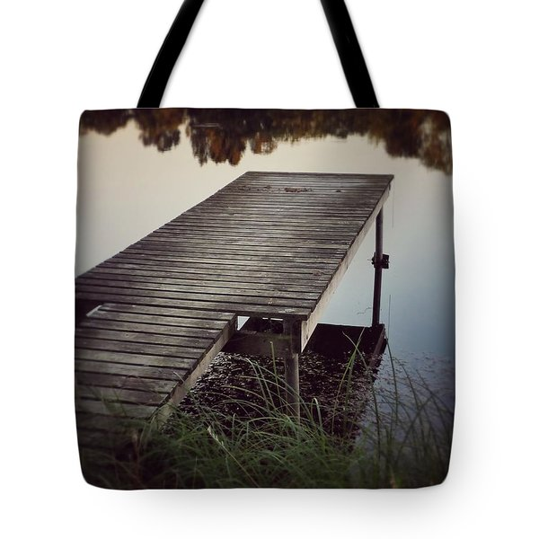 Tote Bag featuring the photograph Fishing Dock by Karen Stahlros
