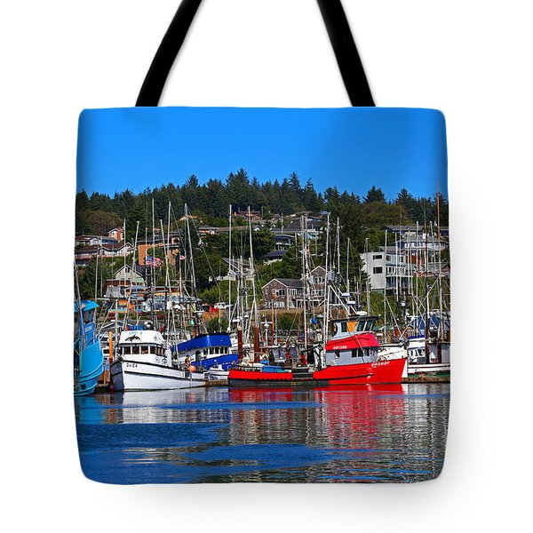 Fishing Fleet At Newport Harbor Tote Bag