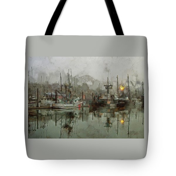 Tote Bag featuring the photograph Fishing Fleet Dock Five by Thom Zehrfeld