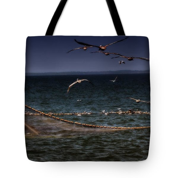 Fishing For Menhaden On The Chesapeake Bay Tote Bag