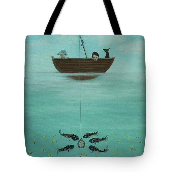 Fishing For Time Tote Bag by Tone Aanderaa