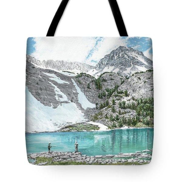 Fishing Gem Lake Tote Bag