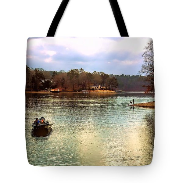 Tote Bag featuring the photograph Fishing Hot Springs Ar by Diana Mary Sharpton