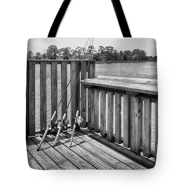 Tote Bag featuring the photograph Fishing by Howard Salmon