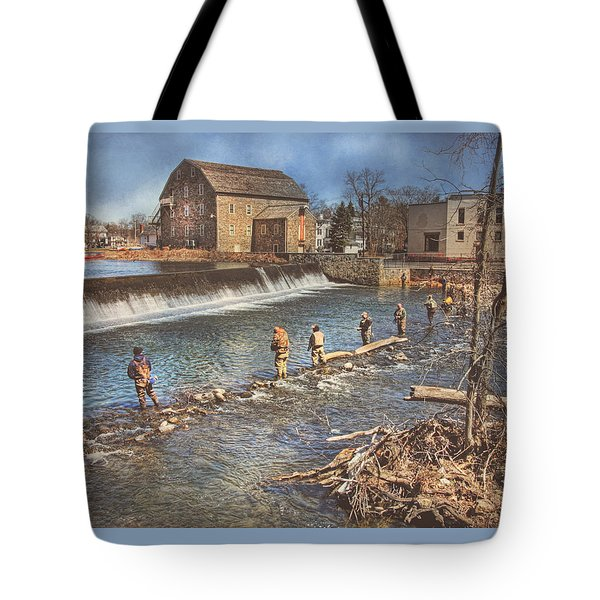 Fishing In Clinton Tote Bag