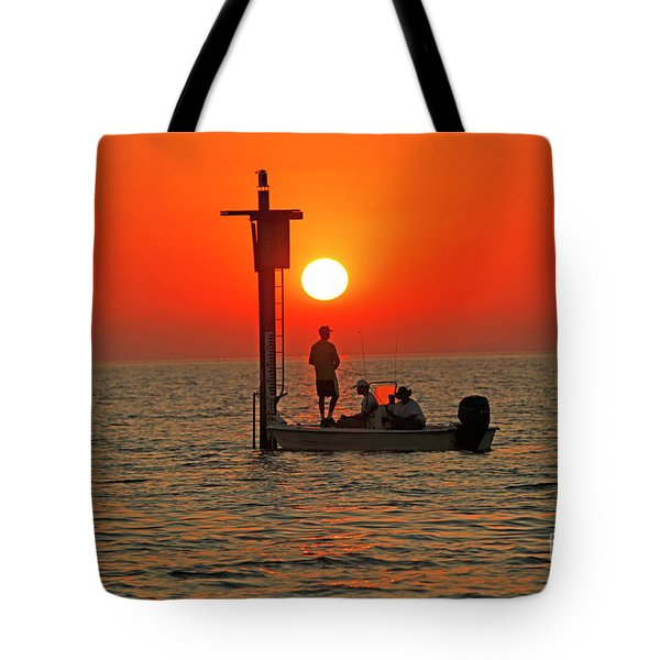 Fishing In Lacombe Louisiana Tote Bag