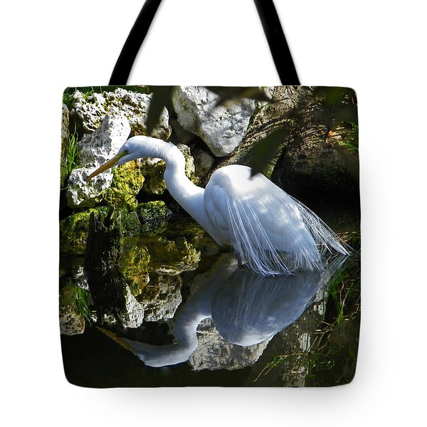 Fishing In The Creek  Color Tote Bag by Judy Wanamaker
