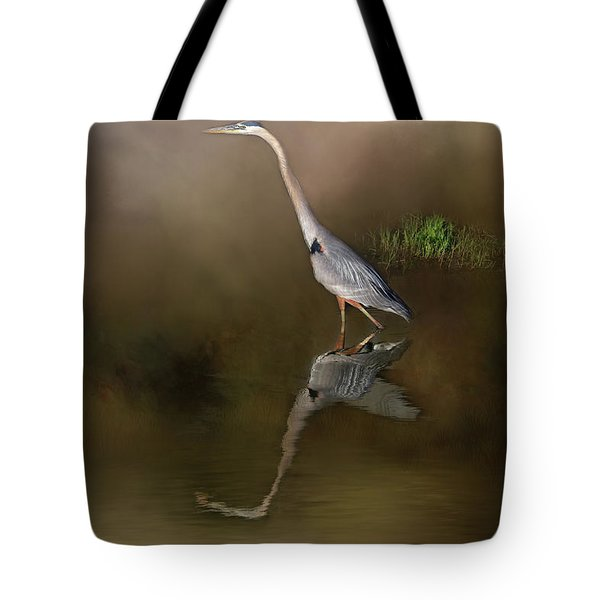 Tote Bag featuring the photograph Fishing In The Fog by Donna Kennedy