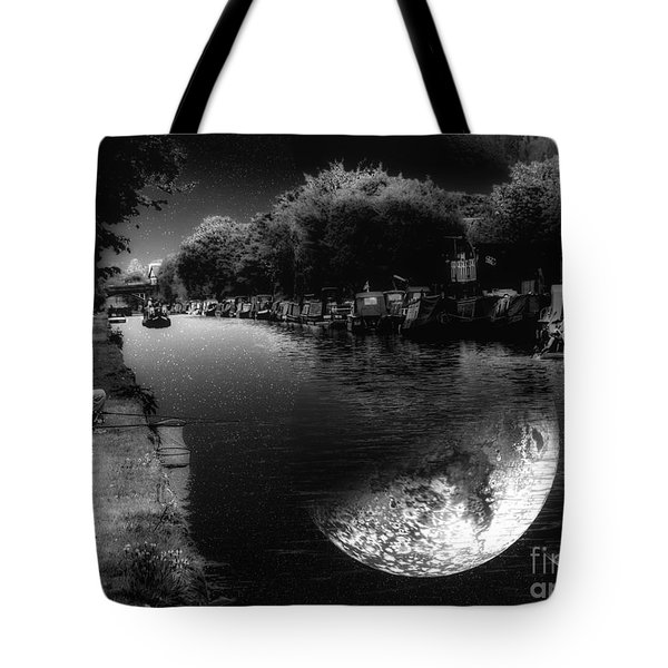 Fishing In The Moonlight Tote Bag