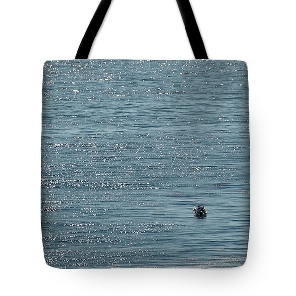 Tote Bag featuring the photograph Fishing In The Ocean Off Palos Verdes by Joe Bonita