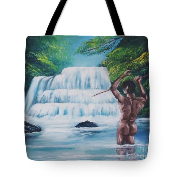Fishing In The River Tote Bag