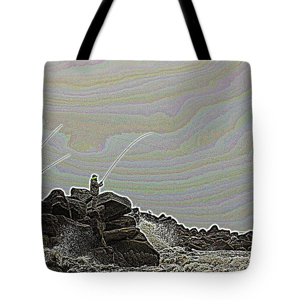 Fishing In The Twilight Zone Tote Bag