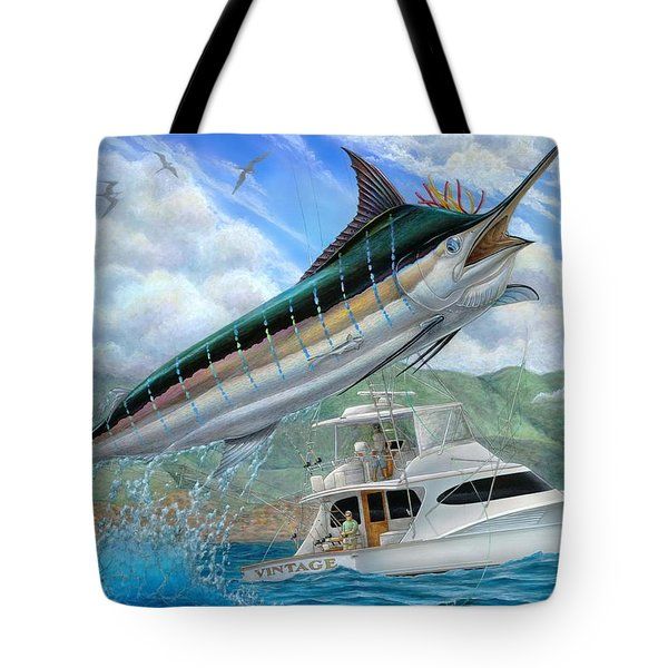 Fishing In The Vintage Tote Bag