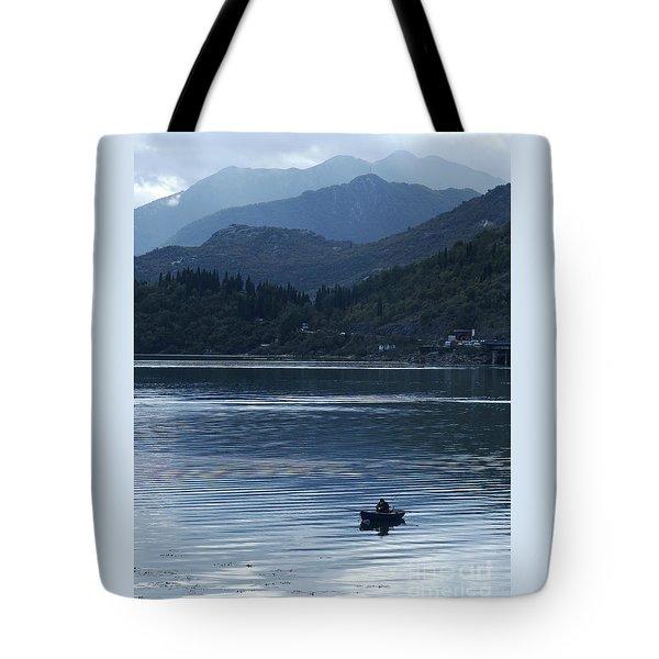 Fishing - Lake Skada Tote Bag