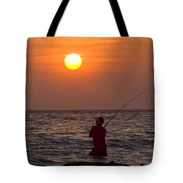 Fishing Lido Beach Tote Bag