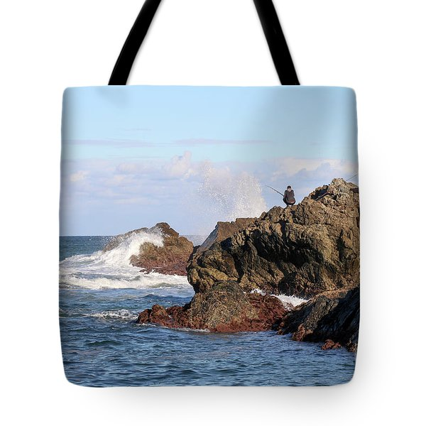 Tote Bag featuring the photograph Fishing by Linda Lees