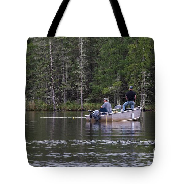 Fishing Little Bass Tote Bag