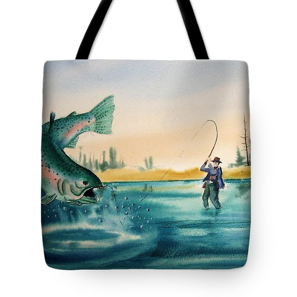 Fishing Montana Tote Bag by Kevin Heaney
