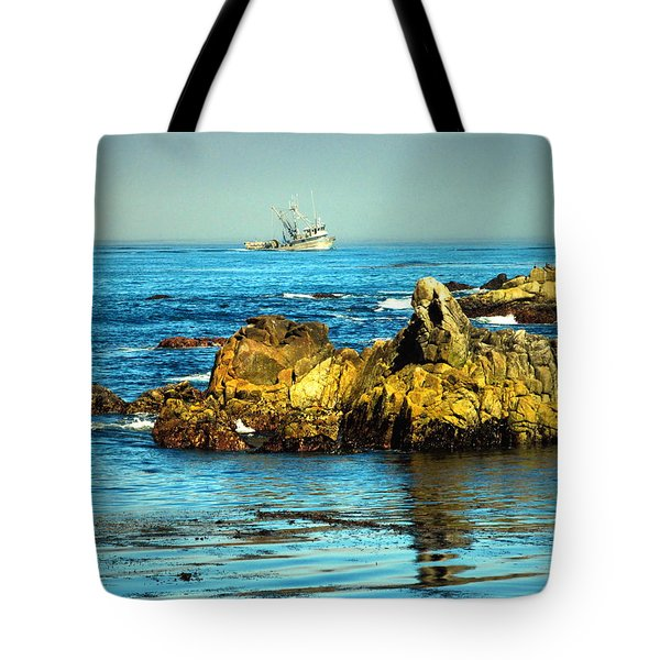 Fishing Monterey Bay Ca Tote Bag