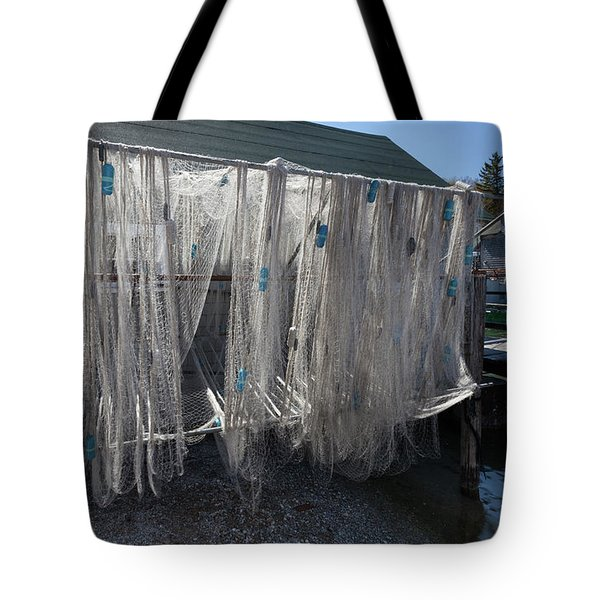 Tote Bag featuring the photograph Fishing Net by Fran Riley