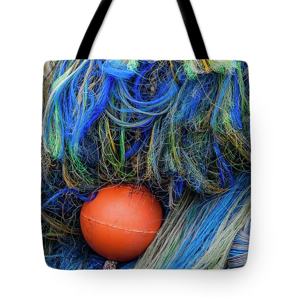 Fishing Nets And Buoy Tote Bag