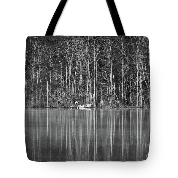 Tote Bag featuring the photograph Fishing Norris Lake by Douglas Stucky