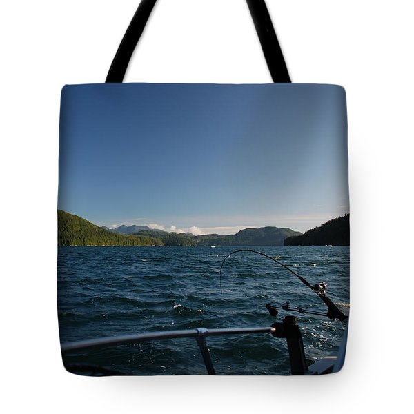 Fishing Off Hisnit Inlet Tote Bag