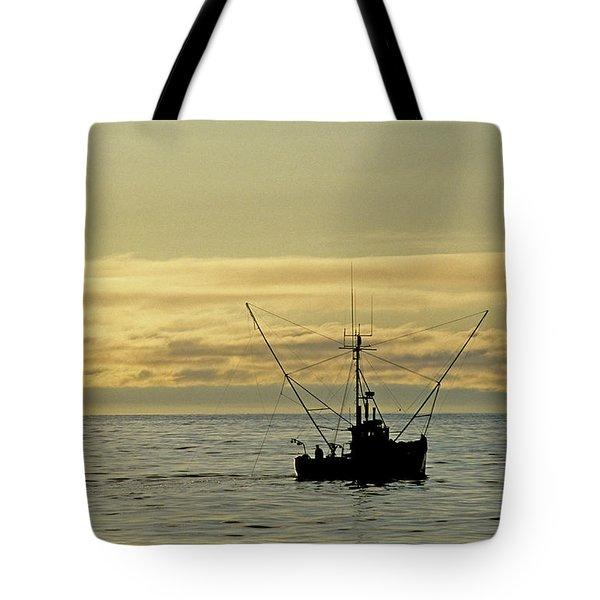 Fishing Off Santa Cruz Tote Bag