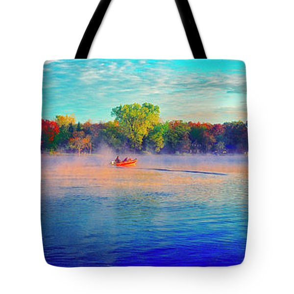 Fishing On Crystal Lake, Il., Sport, Fall Tote Bag