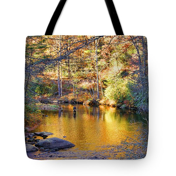 Fishing On The Cullasaja By H H Photography Of Florida Tote Bag