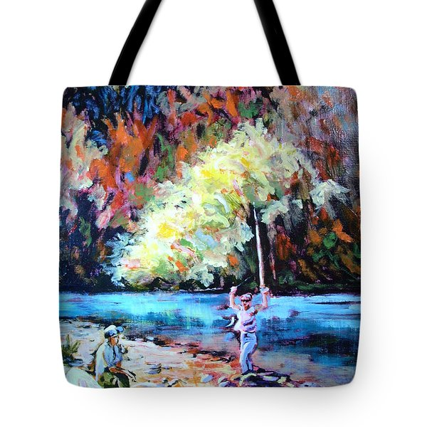Fishing Painting Catch Of The Day Tote Bag
