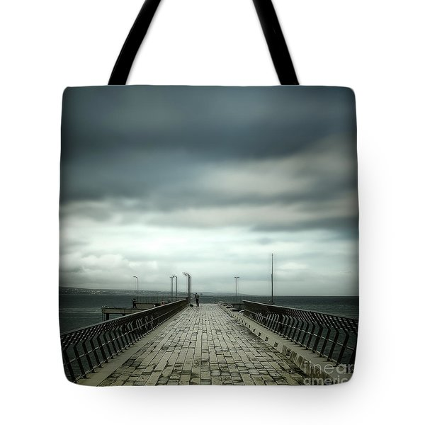 Tote Bag featuring the photograph Fishing Pier by Perry Webster