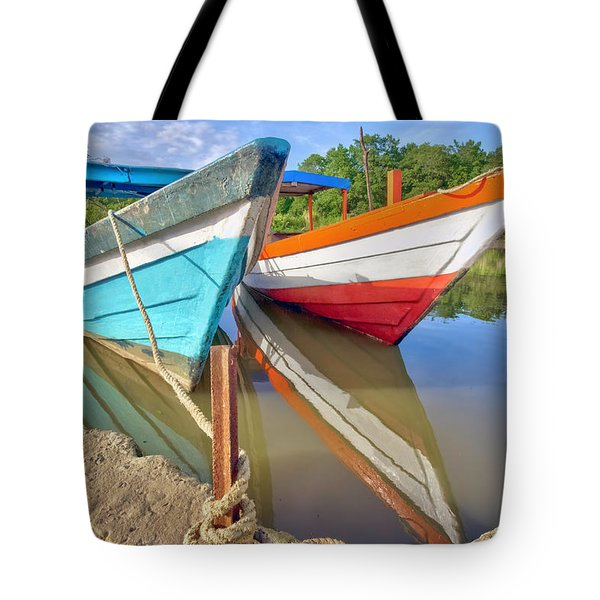 Fishing Pirogues  Tote Bag