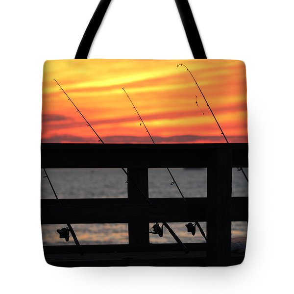 Fishing Poles Mount Sinai New York  Tote Bag