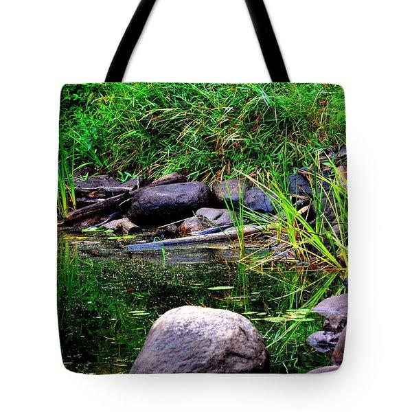 Fishing Pond Tote Bag