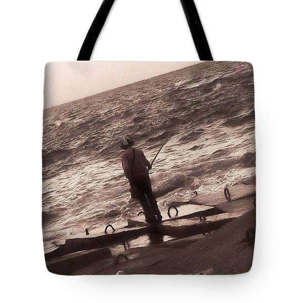 Men Fishing, Alexandria, Egypt Tote Bag
