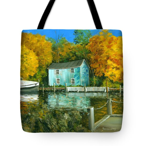 Fishing Shanty Tote Bag