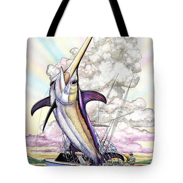 Fishing Swordfish Tote Bag